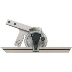 Univ.-Winkelmesser 150mm m. Lupe FORMAT