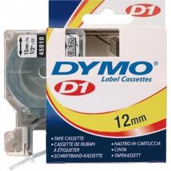 Schriftband 45010 schwarz/transparent 12mmx7m Dymo