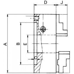 Dreib.-Drehf. Guss 100/ 20mm DIN6350 FORMAT