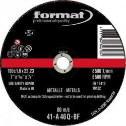 Trennscheibe für Stahl 115x1,0mm ger. FORMAT