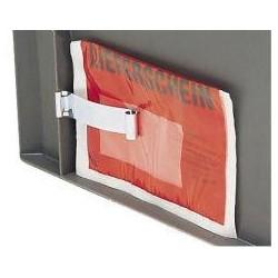 Etikettenklammer für Stapeltransportkasten
