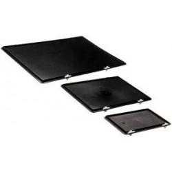 Verschlussdeckel schwarz für Kastenmaß 300x200 mm