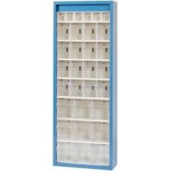 Klars.-System.-Schrank. RAL 5007, 31 Behälter
