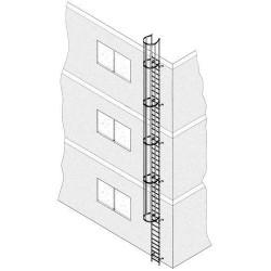 Alu-Steigleiter eloxiert 4,80 m