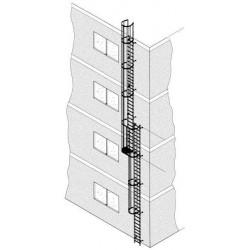Alu-Steigleiter eloxiert 10,70 m
