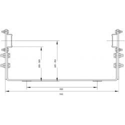 Wandhalter verst. 250-350 mm verz.