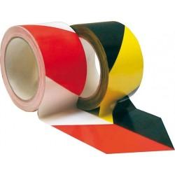 PVC-Warnband selbstkleb. 66mx60mm gelb/schwarz